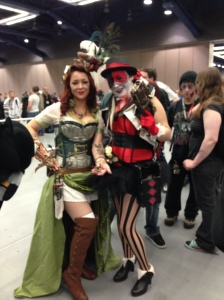 Steampunk Poison Ivy and Harley Quinn. Awesome.