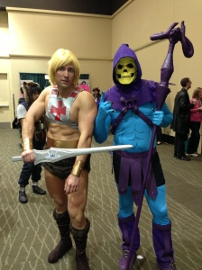 Spencer Voykin as He-Man and Clay Stooshnoff as Skeletor