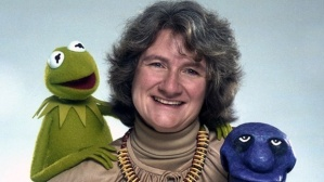 Jane Henson with Kermit and Yorick